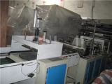 Automatische doppelte Zeile Plastikshirt-Beutel, der Maschine herstellt