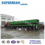 40FTユーティリティ三車軸バルク貨物サイドウォールの容器のトラックのセミトレーラー