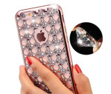 As cores diferentes TPU galvanizam a caixa luxuosa do telefone do diamante de Bling Bling