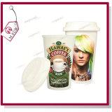 Vaso de cerámica de Starbucks con la tapa para la impresión de la sublimación