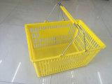 Mémoire bon marché Plastic Shopping Basket de Supermarket avec Two Handles à vendre Zc-2