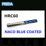 HRC60高い硬度の鋼鉄を機械で造るための青い上塗を施してある炭化物の端製造所