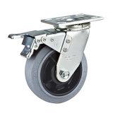 roue antistatique de chasse de l'émerillon 5inches lourd (avec le frein de total en métal)