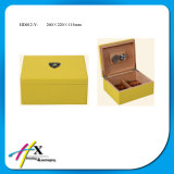 Humidor en bois massif en cèdre en espagnol, caisse de cigares personnalisée