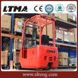 Carretilla elevadora eléctrica eléctrica de la carretilla elevadora 1t 1.5t de la rueda de Ltma tres