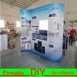 Fácil de instalar Exposición de tela reutilizable Display stand de feria