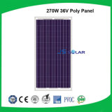 panneau solaire polycristallin de CCE de support de consoles multiples de la CE de 270W TUV