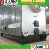 Caldeira de vapor ateada fogo baixo carvão de Dzl do consumo da eficiência mais elevada, caldeira de madeira de Pelllet