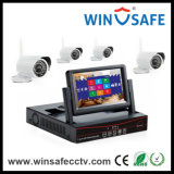 Cámara al aire libre del punto negro del IP de los kits 4CH de la seguridad NVR