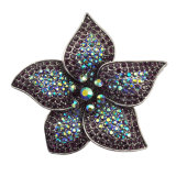 نمط [رهينستون] كبيرة زهرة تصوّر فضة دبوس الزينة