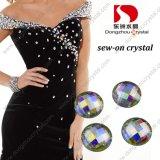 Wholesale를 위한 30mm Round Ab Crystal Stone Flat Back Glass Stone