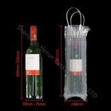 Sacchetto trasparente personalizzato della colonna dell'aria del PE per la bottiglia di vino