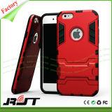 Tampa dupla do caso da camada com as caixas da armadura de Kickstand TPU para o iPhone 6