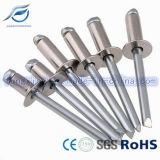Ribattini capi piani di alluminio dei ciechi