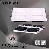 24W LED 세륨과 RoHS 2*2 LED 빛을%s 가진 가벼운 위원회 전등 설비 SMD 석쇠 빛