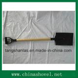 Лопата лопаткоулавливателя стали углерода инструмента лопаты аграрная с деревянной ручкой
