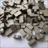 Segmento do granito para o corte por blocos