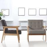 高品質のヨーロッパ木ファブリックソファーの椅子