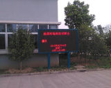 P10 Affichage de LED en couleur rouge en plein air Affichage de message de déplacement de LED