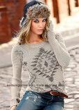 Vestiti lunghi del maglione del manicotto del collo rotondo di modo delle donne dell'OEM
