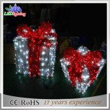 クリスマスの装飾3Dのモチーフのギフト用の箱LEDの休日ライト