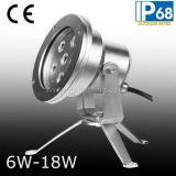 Riflettore subacqueo impermeabile dell'acciaio inossidabile 12W 24V LED con la parentesi (JP95562)