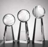 Trofeo di cristallo del premio di cristallo con calcio di tennis di pallacanestro di gioco del calcio del Golfball