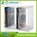 El sostenedor amontonable de DVD sostiene 14 casos de visualización estándar de DVD