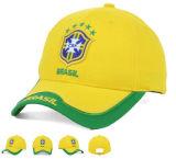 Professioanl Stickerei strukturierter Baumwollfußball-Team-Sport-Baseballmütze-Hut-Großverkauf