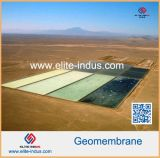 PVC superficial liso Geomembranes del color de azul gris