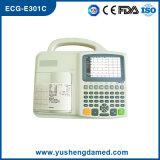O ISO Interpretive do CE da máquina do electrocardiógrafo ECG da canaleta de ECG-E301c três aprovou
