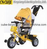 Tre bambini di spinta della mano della rotella/tricicli del bambino