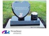 Lapide di figura del cuore intagliata mano di pietra della natura con personalizzato