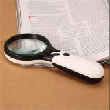 Portable multifunzionale Mini Handheld 2.5 X-45 X Reading Magnifier Lamp/Loupe con il LED Light (EGS-6906B)