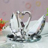 Decoraciones cristalinas de la boda del regalo cristalino del cisne del alto grado