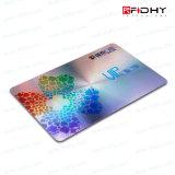 Hologramme estampant la carte en plastique d'IDENTIFICATION RF avec la puce de S50/S70