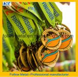 Medalhas da maratona para o uso da lembrança da estação de acabamento