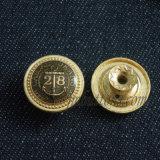 Цветасто извлекайте кнопку металла джинсыов плакировкой заклепки