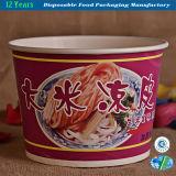 Tazón de fuente de papel disponible para los alimentos de preparación rápida