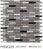 Mattonelle di mosaico inossidabili Mixed di Steelmarble della pietra del marmo del materiale da costruzione (FYSSC223)