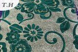 Tela grande del sofá y de los muebles del telar jacquar de 2016 flores del Chenille caliente de la venta