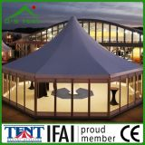 金属が付いている屋外の八角形の庭の塔のテントのおおいは5X5mを防水する