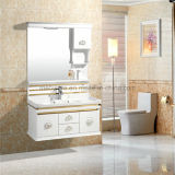 白い浴室の虚栄心、安いPVC浴室用キャビネット