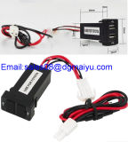 トヨタのための車のDual USB Port Socket USB Charger Parts 2.1A/1A Cellphone Charger