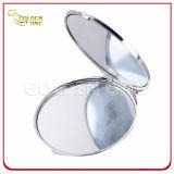 Espejo impreso cubierto epóxido promocional del compacto del metal del regalo