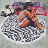 Microfiber superiore Printed Round Beach Towels con Tassels