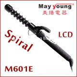 Bigudí de pelo espiral del LCD del barril de la capa de M601e Tourline
