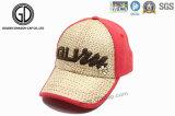 Nueva gorra de béisbol del acoplamiento de la paja del estilo 2016, sombrero del camionero de la paja