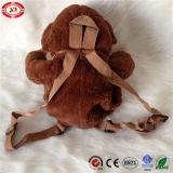 Juguete lindo del bolso de la felpa del morral del mono del amor del bebé