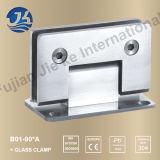 Clips en verre à ajustement de salle de bains en acier inoxydable (B01-90A)